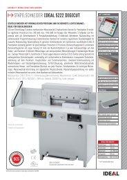 IDEAL 5222 DIGICUT Stapelschneider PDF Datenblatt