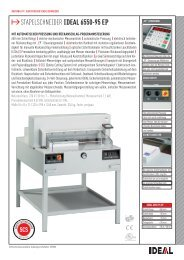 IDEAL 6550-95 EP Stapelschneider PDF Datenblatt