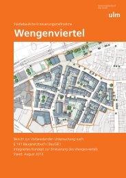 Sanierungsgebiet Wengenviertel Bericht zur Vorbereitenden ...
