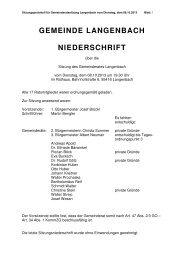 Gemeinderatssitzung vom 08.10.2013 - Langenbach