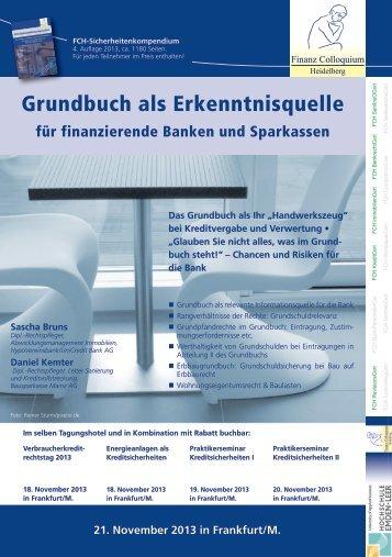 Grundbuch als Erkenntnisquelle - Finanz Colloquium Heidelberg