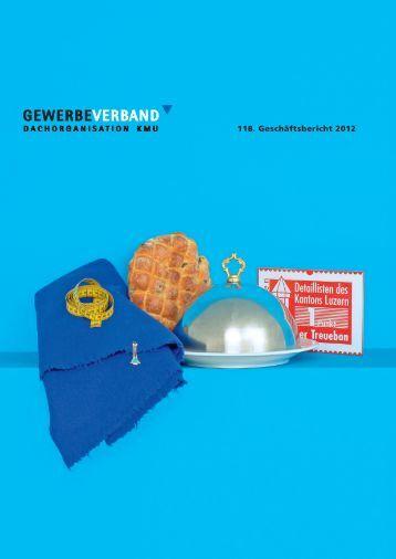 Geschäftsbericht 2012 - Gewerbeverband des Kantons Luzern
