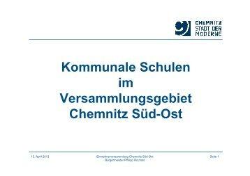 Vortrag Bürgermeister Herr Rochold zu kommunalen ... - Chemnitz