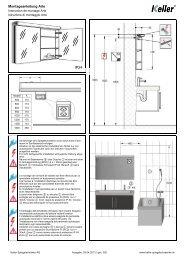 Istruzione di montaggio - Keller Spiegelschränke AG