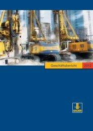 Geschäftsbericht 2012 - BAUER Gruppe