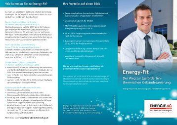 Folder Energy-Fit - Energie AG Oberösterreich