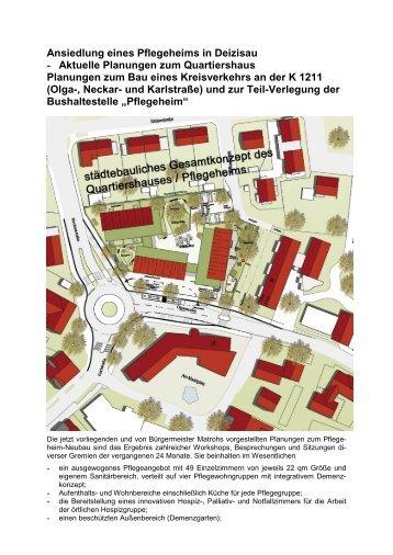 Bericht aus der Gemeinderatssitzung am 18 - Gemeinde Deizisau