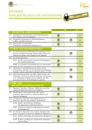 Kriterien Gastronomie Landeswettbewerb - B2B
