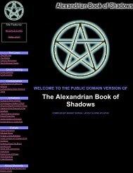 Public Domain Alexandrian Book of Shadows