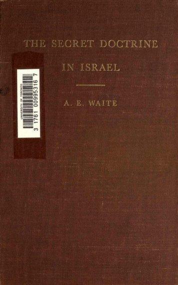 The Secret Doctrine in Israel - Hermetics Resource