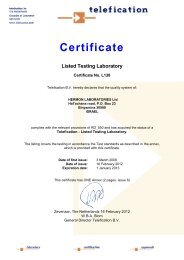 Certificate - Hermon Labs
