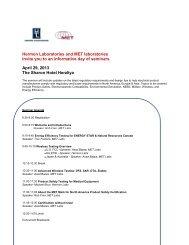 Hermon Laboratories and MET laboratories Invite ... - Hermon Labs