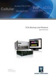 TCA Backup and Restore - Hermon Labs