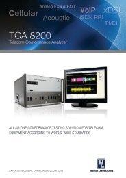 TCA 8200 Telecom Conformance Analyzer All-in ... - Hermon Labs