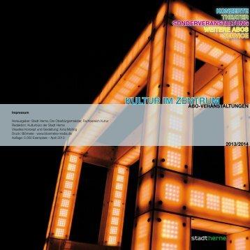Programm Aboveranstaltungen 2013 / 2014 - Stadt Herne