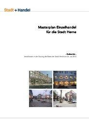 Masterplan Einzelhandel - Stadt Herne