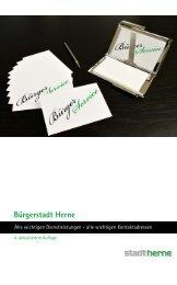 Bürgerservicebroschüre Vierte Auflage - Stadt Herne