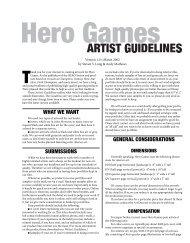 Artist's Guidelines - HERO Games