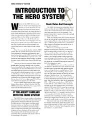 INTRODUCTION TO THE HERO SYSTEM - HERO Games
