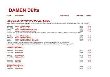 Damen-Düfte - Herold Betriebsrat ...für Euch da! - willkommen