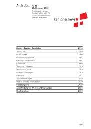 Amtsblatt Nr. 46 vom 15. November 2013 (217 KB) - Kanton Schwyz