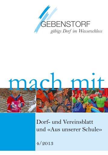 Mach Mit 4/2013 - Gemeinde Gebenstorf