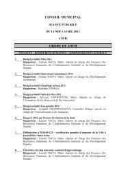 CONSEIL MUNICIPAL ORDRE DU JOUR - Hérouville Saint-Clair
