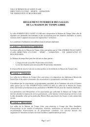 Règlement de la maison du temps libre - Hérouville Saint-Clair