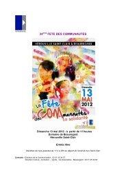 HSC - fête des communautés 2012 - Hérouville Saint-Clair