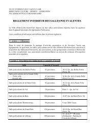 Règlement intérieur des salles polyvalentes - Hérouville Saint-Clair