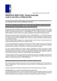 conseil municipal - Hérouville Saint-Clair