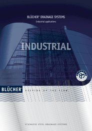 BLÜCHER®DRAINAGE SYSTEMS Industrial applications - Blucher
