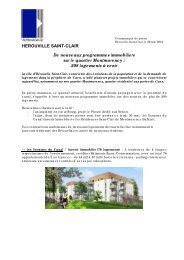 pose première pierre chantier Montmorency - Hérouville Saint-Clair