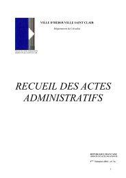 Recueil des actes administratifs 3è trimestre 2012 - Hérouville Saint ...