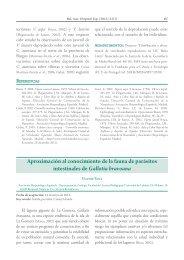 Aproximación al conocimiento de la fauna de parásitos intestinales ...