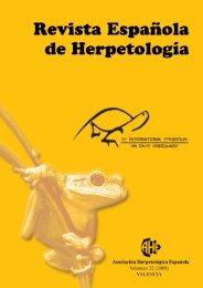 0529 HERPETELOGIA-revista 22 - Asociación Herpetológica ...