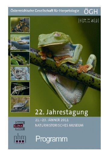 Tagungsprogramm 2011 - Österreichische Gesellschaft für ...