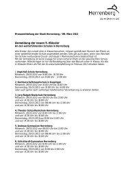 Anmeldung der neuen 5.-Klässler - Herrenberg
