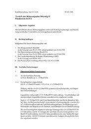 Textteil zum Bebauungsplan Holzsteig II Planbereich ... - Herrenberg