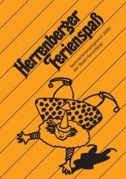 Sommerferienprogramm 2006 der Stadt Herrenberg