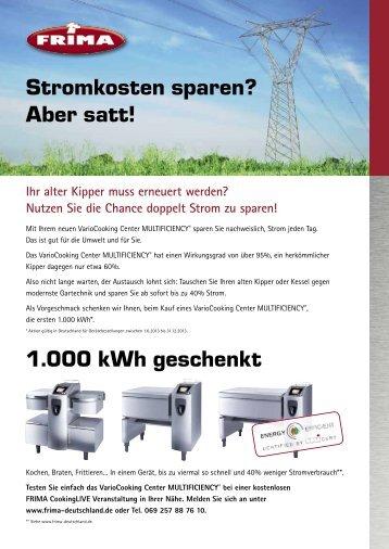 Stromsparen mit FRIMA - informieren Sie sich hier!!!