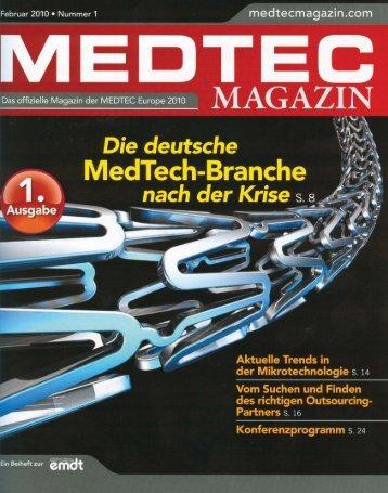 MEDTEC Magazin 2/2010 - Herrmann Ultraschalltechnik
