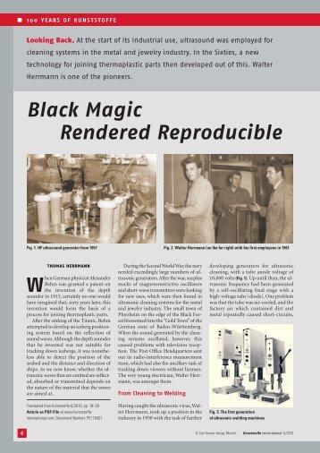 Black Magic Rendered Reproducible