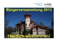 Bürgerversammlungen 2013 BGM Praesentation Homepage