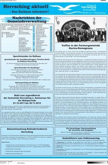 Herrsching aktuell - Herrsching am Ammersee