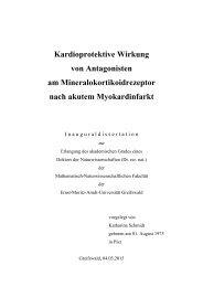 Kardioprotektive Wirkung - Ernst-Moritz-Arndt-Universität Greifswald