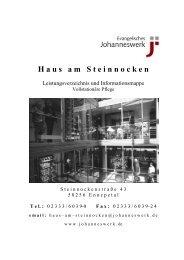 Leistungsverzeichnis vollstationäre Pflege - Johanneswerk