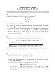 Physikalische Chemie I – Kinetik Pb Bi Po --→ --→