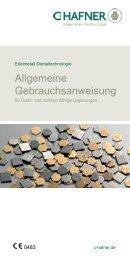 Allgemeine Gebrauchsanweisung Guss - C. HAFNER GmbH + Co. KG