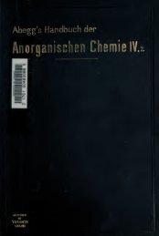 Handbuch der Anorganischen Chemie - booksnow.scholarsportal.info